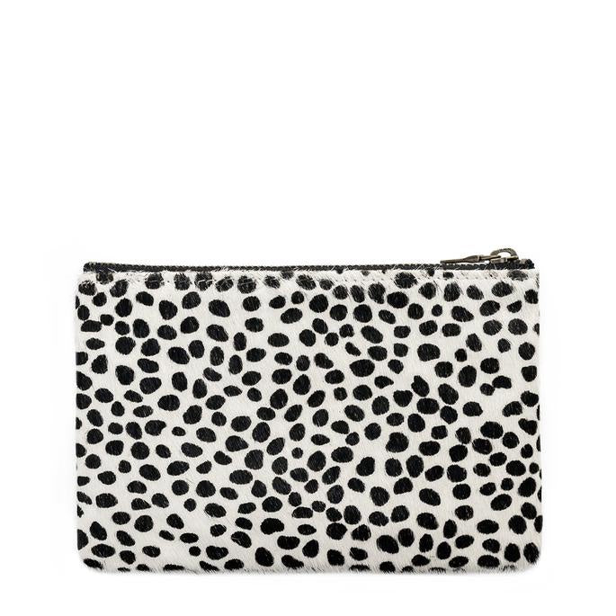 Status Anxiety Maud Wallet in Snow Cheetah