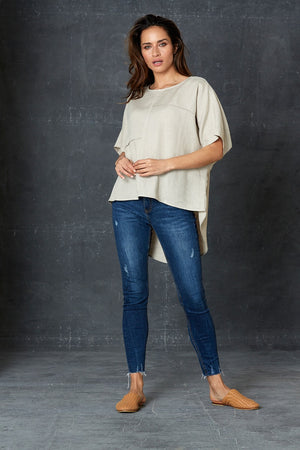 Eb & Ive - Bask Easy Top - Flax