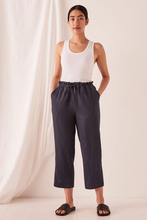 Assembly Label - Ollie Linen Pants - True Navy