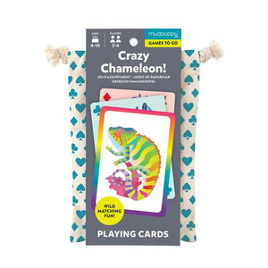 Mudpuppy - Crazy Chameleon! Playing Cards to Go