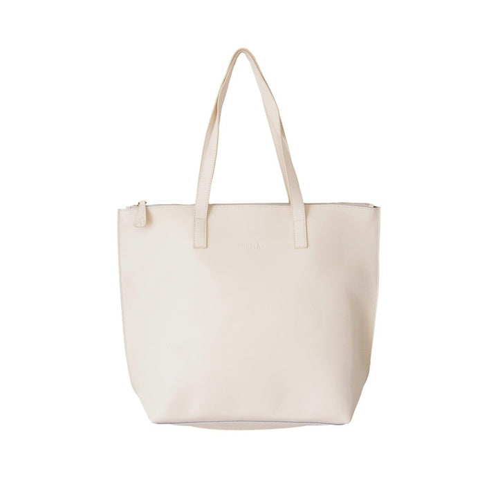 Hoopla - Large Zip Tote - Cream