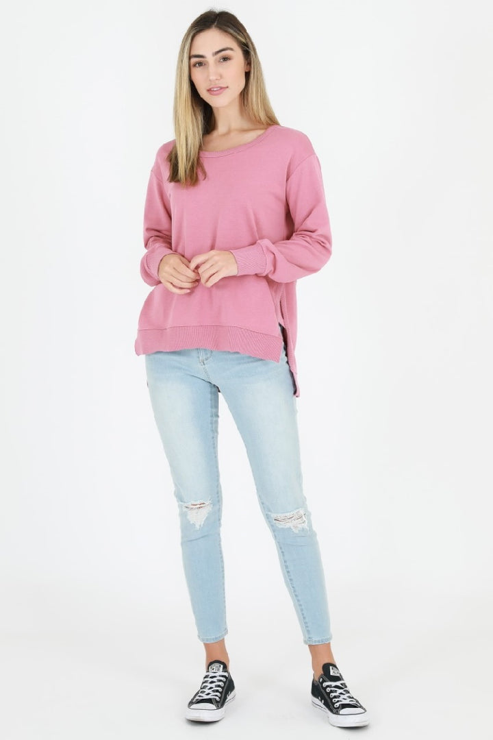3rd Story - Ulverstone Sweater - Tango Pink