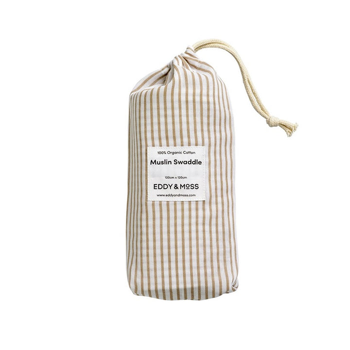 Eddy & Moss - Swaddle Wrap - Stripe Nutmeg