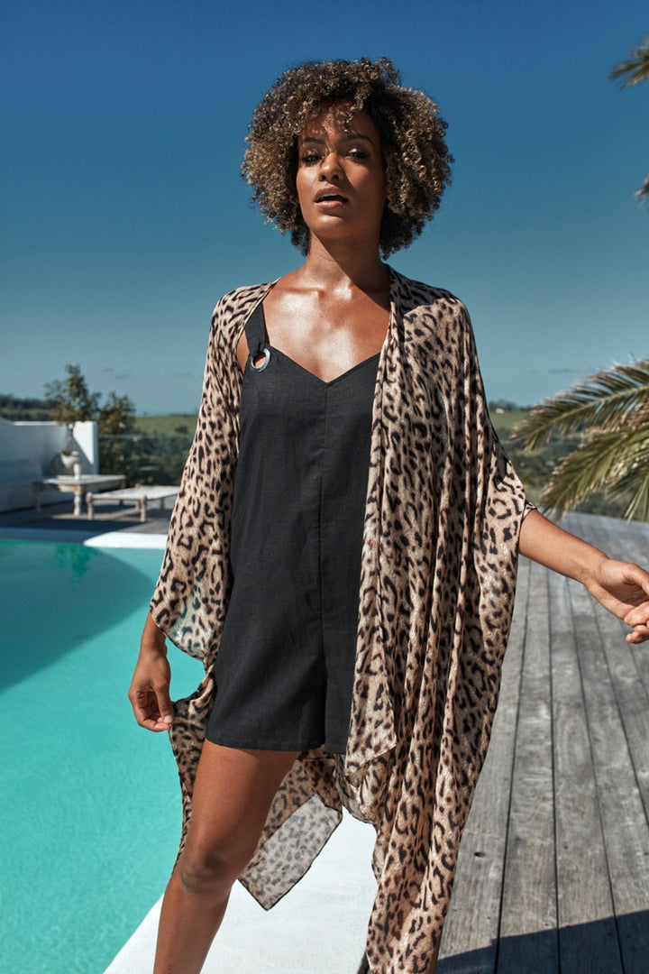 Eb & Ive - Savannah Cape - Leopard