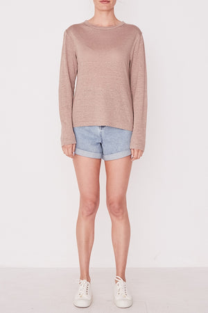 Assembly Label - Mara Linen Long Sleeve Tee - Husk