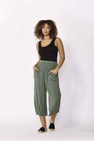 Betty Basics - Dublin Cropped Pant - Olive