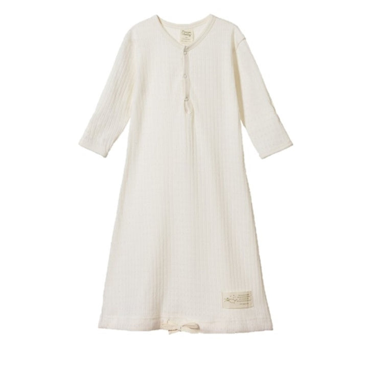 Nature Baby - Pointelle Sleeping Gown - Natural