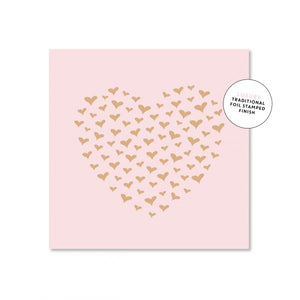 Just Smitten Mini Gift Card - Heart of Hearts Pink