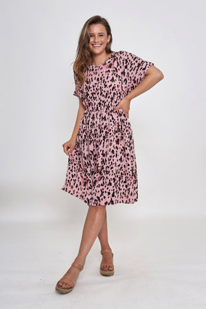 Leoni - Micah Dress - Blush Leopard