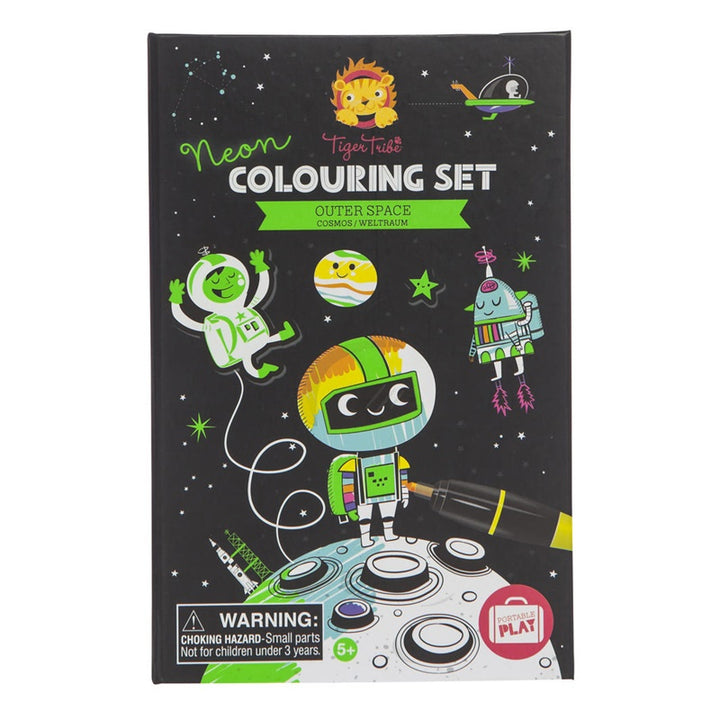 Tiger Tribe - Neon Colouring Set - Space
