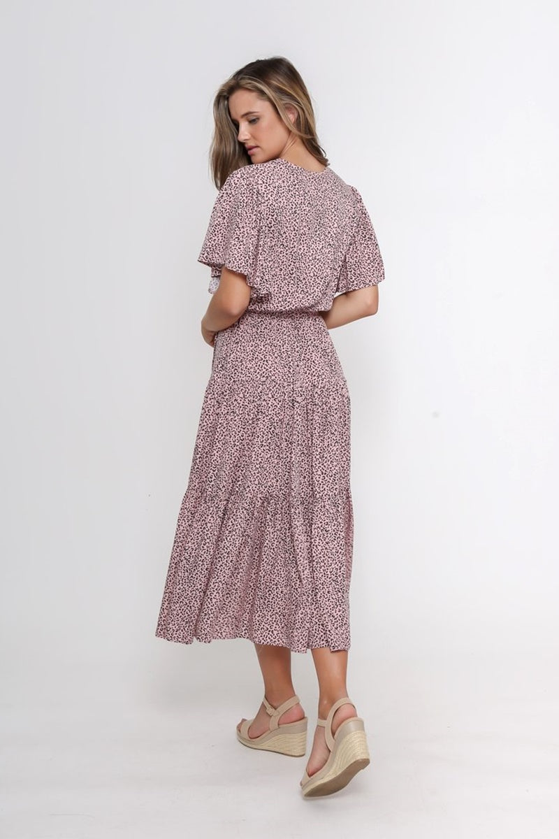 Leoni - Dayna Dress - Pink Leopard