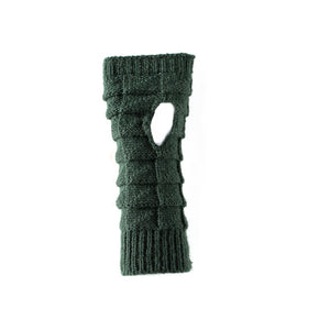 Antler - Knitted Fingerless Gloves - Khaki