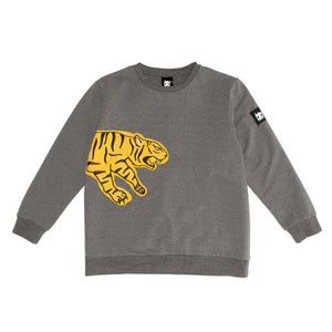 Band of Boys - Jumper A Line Pouncing Tiger - Marle Grey