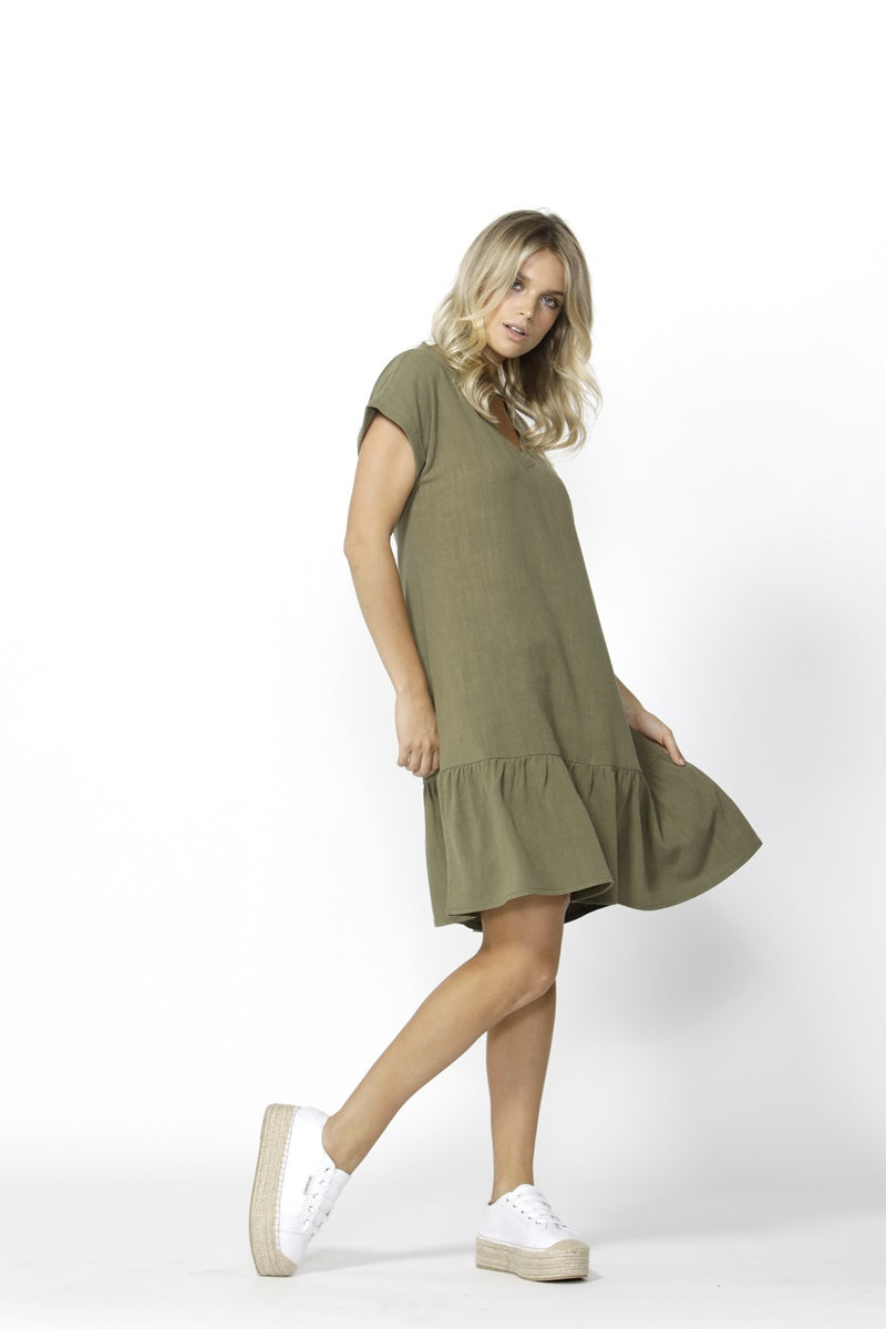 Betty Basics - Ryland Dress - Khaki