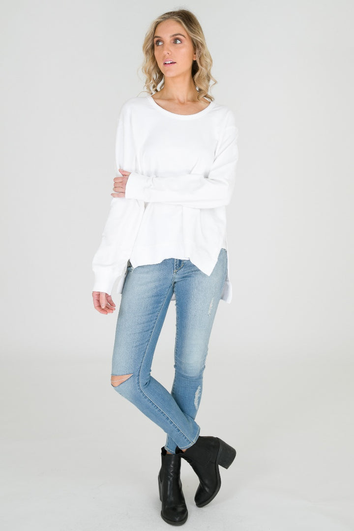 3rd Story - Ulverstone Sweater - White