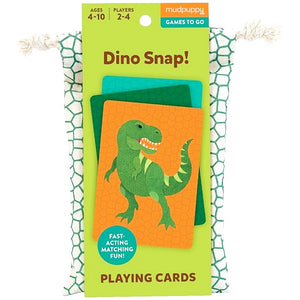 Mudpuppy - Dino Snap Playing Cards To Go