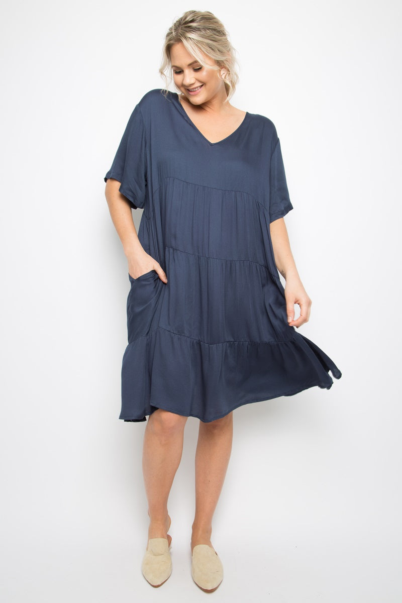 PQ Collection -  Chic Dress - Deep Navy