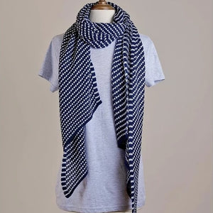 Hello Friday - The Stylist Stripe Ink Ice Scarf