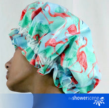 Load image into Gallery viewer, Flaunt Your Flamingos - Shower Cap / Shower Hat