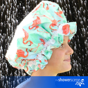 Flaunt Your Flamingos - Shower Cap / Shower Hat