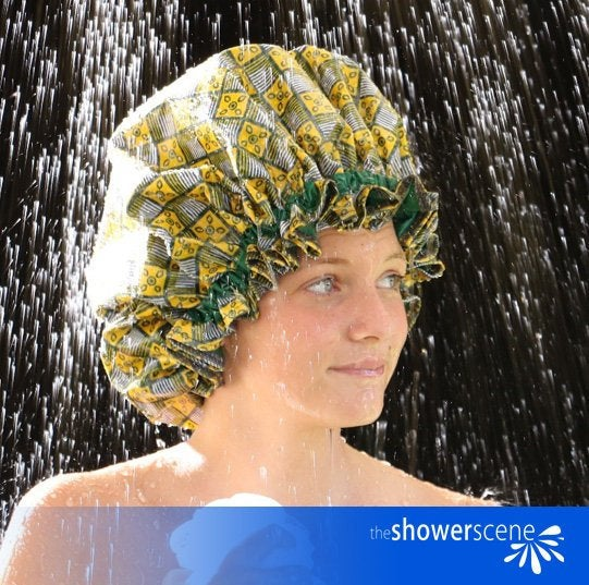 VERDANT FIELDS Shower Cap / Shower Hat