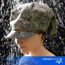 Load image into Gallery viewer, Carry on CAMO Shower Cap / Shower Hat