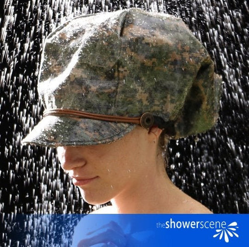 Carry on CAMO Shower Cap / Shower Hat