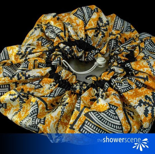 African Village  Shower Hat / Shower Cap