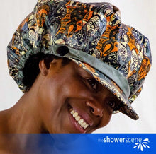 Load image into Gallery viewer, Mesermizing Masks Shower Hat / Shower Cap
