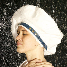 Load image into Gallery viewer, Nautically White - Shower Hat for MEN & WOMEN