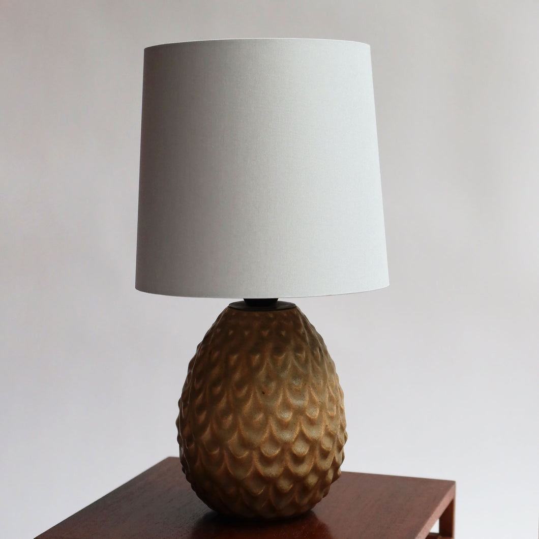 Danish Studio Potter Yellow Ceramic Lamp