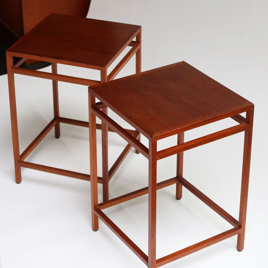 Ejner Larsen + Aksel Bender Madsen Pair of Side Tables