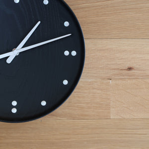 Finn Juhl FJ Clock in Black Ash