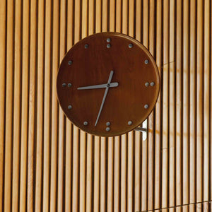 Finn Juhl FJ Clock in Teak