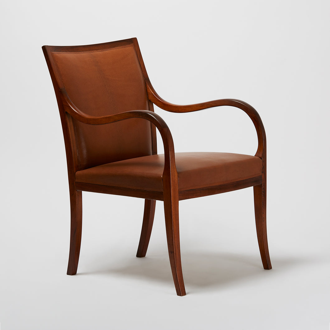 Frits Henningsen Curved Armchair