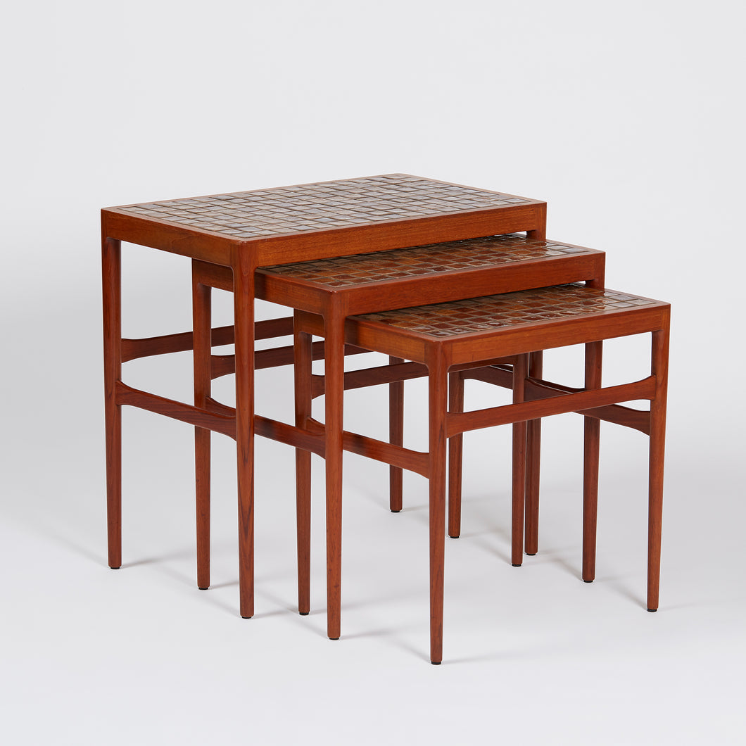 Helge Vestergaard Jensen Ceramic Top Nesting Tables - SOLD