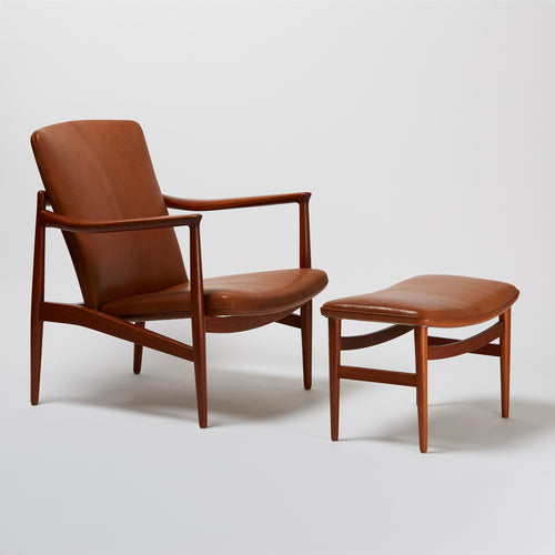 Jacob Kjær Easy Chair with Stool