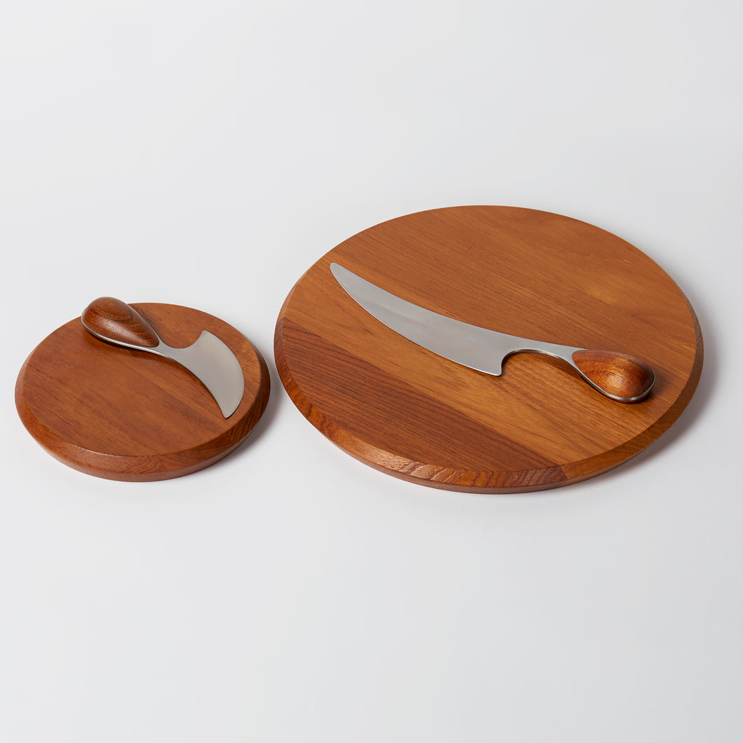 Jens Quistgaard Cheese Board and Knife Set