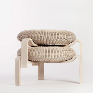 Ole Schjøll Wicker Stool - Sale