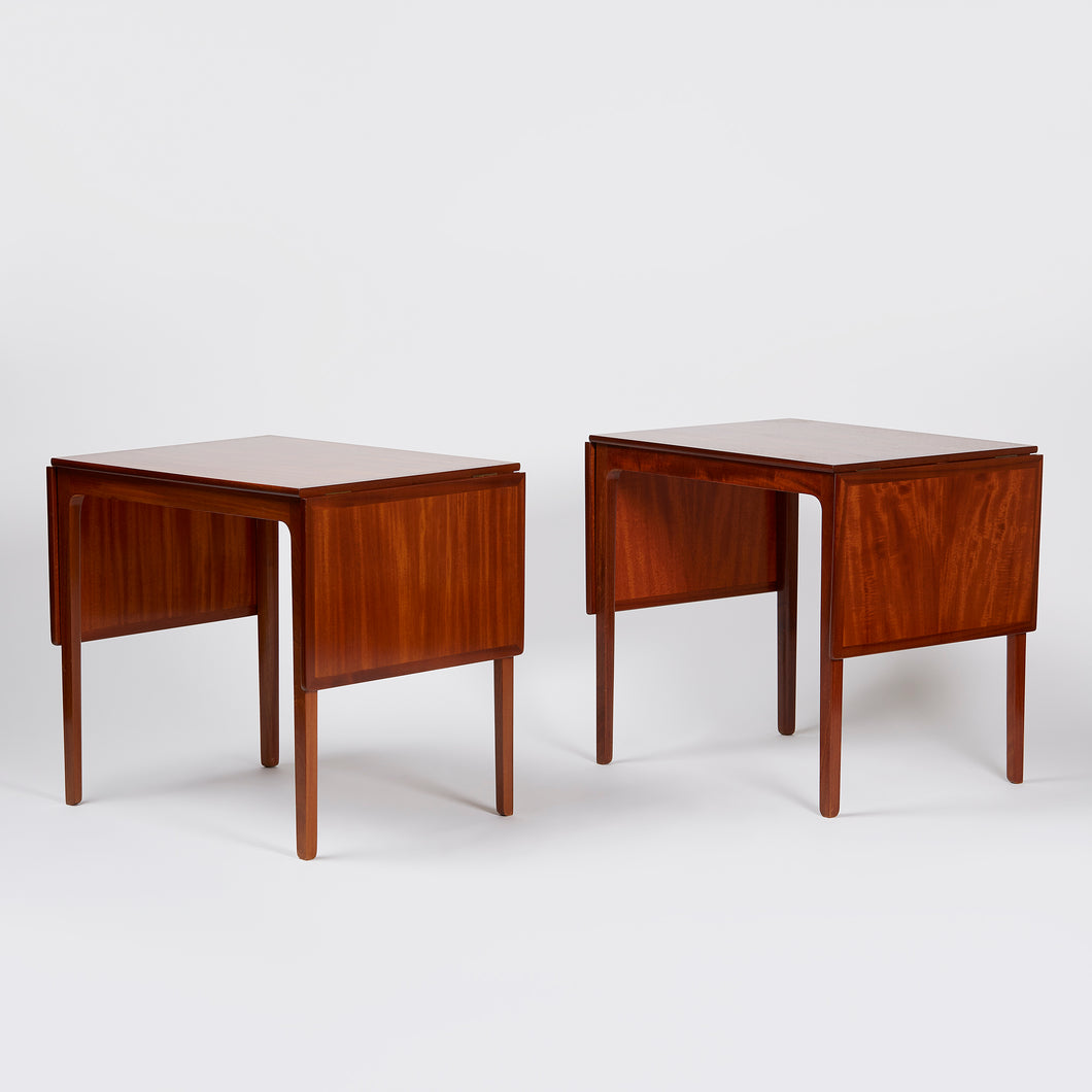 Ole Wanscher Side Tables with Extensions