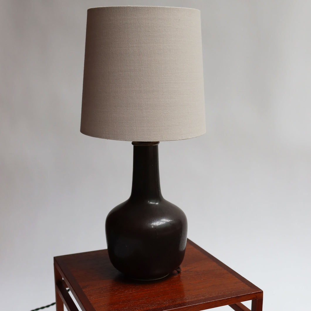 Eva Stæhr-Nielsen Oiled Black Ceramic Lamp