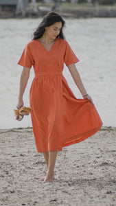 Havana Dress - Tangerine
