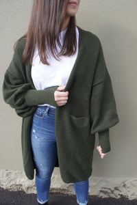 Hazel Cardigan - Forest Green