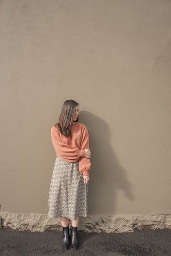Celeste Crop Knit Jumper - Rust