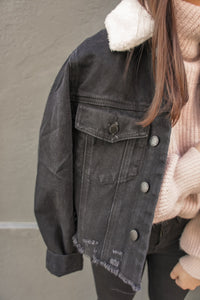Harper Denim Jacket - Black