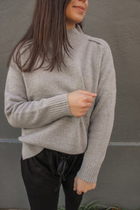 Marlowe Wool Blend Jumper - Grey