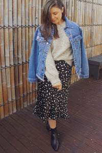 Ryna Boyfriend Denim Jacket - Blue