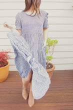 Load image into Gallery viewer, Gaia Tiered Midi Dress - Gingham