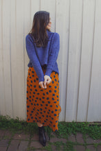 Load image into Gallery viewer, Kimba Midi Skirt - Rust/Navy Spot