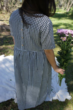 Load image into Gallery viewer, Jocelyn Cotton Dress - Black Gingham